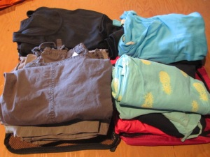 Eight months of clothes?