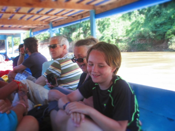Traveling up the Nam Ko River with Grandma Cindy & Papa Phil